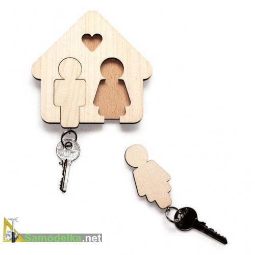 самодельные брелки для ключей на Валентинов день