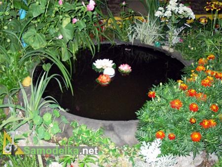 самодельный пруд на даче