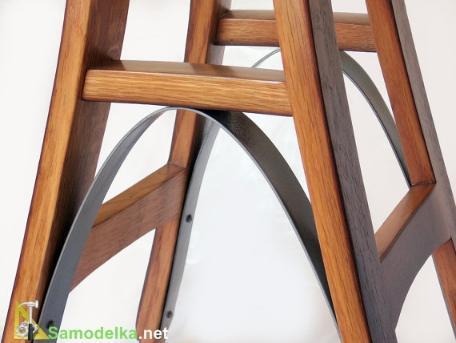 Самодельный стул для бара Эйфелева башня