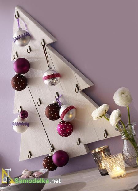 елка на стену