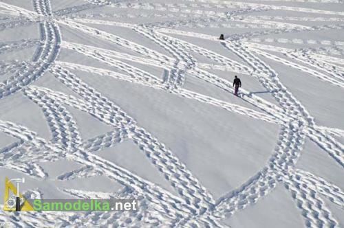 Рисунки на снегу Симона Бека