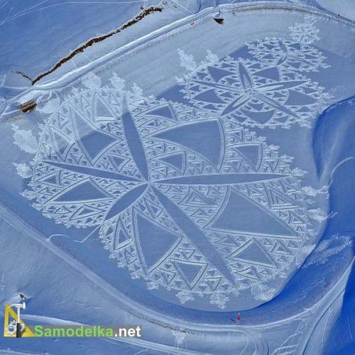 большие  математические модели на снегу