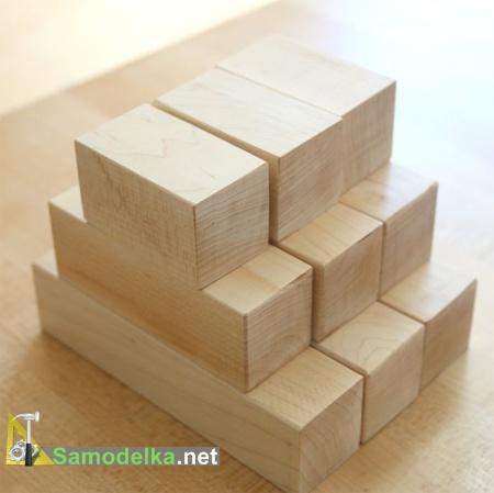заготовки деревянных кубиков своими руками