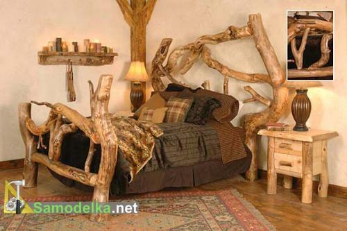 кровать из бревна своими руками фото 2