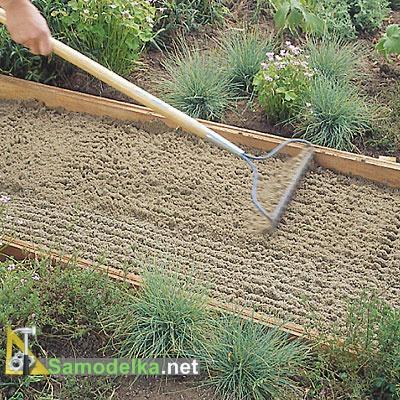 дорожка из плитняка своими руками песчаная подушка