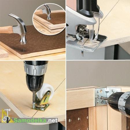 стеллаж для инструментов своими руками изготовление