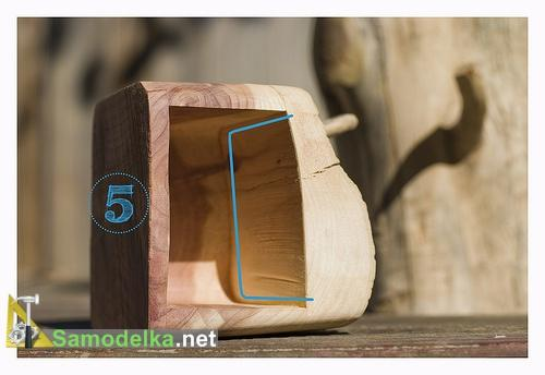 Как сделать шкаф из бревна делаем ящик