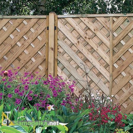 как сделать красивый деревянный забор сеточкой