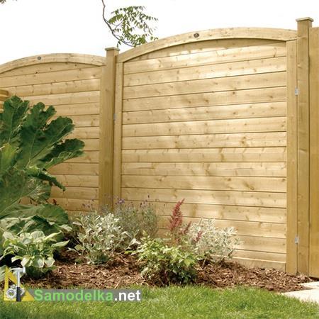 как сделать красивый деревянный забор из досок