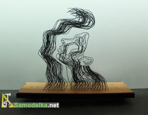 самодельная скульптура из проволоки