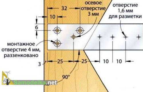 изготовление металлической линейки для центроискателя