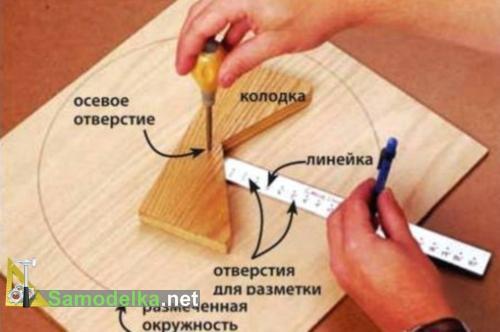 как работает самодельный центроискатель