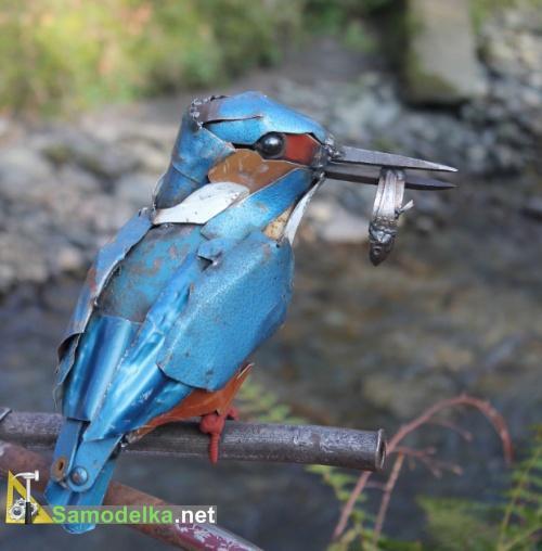 Животные из металла - Зимородок