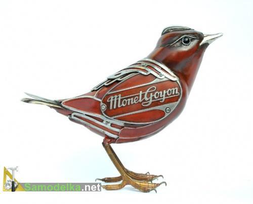 Птица из металла - бронза
