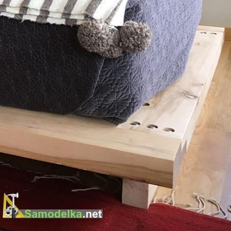 Ножки кровати тоже делаем из бруса