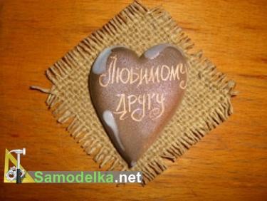 валентинка соленое сердце на тряпичной основе