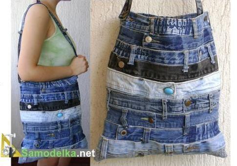 самодельные сумочки из джинсов