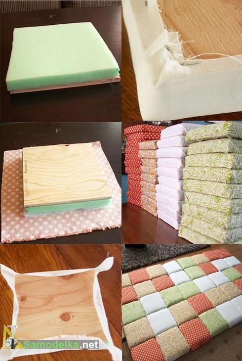 как сделать изголовье кровати из подушек