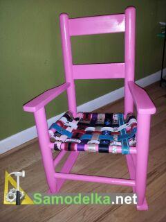 Вторая жизнь для деревянного стула