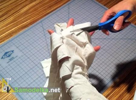 как разрезать футболки на пряжу для плетения