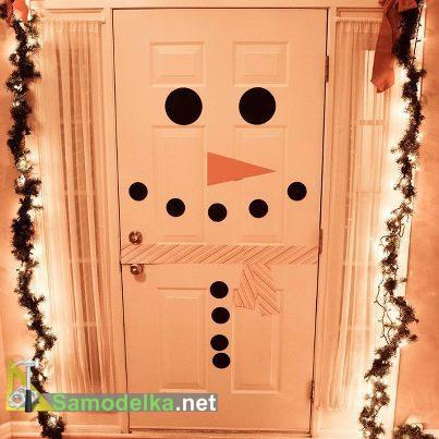 снеговик из двери