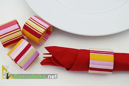 Самодельные колечки - держатели для сервировки стола салфеток, вилок и ножей