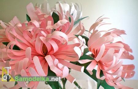 Самодельные бумажные цветы тонкой работы