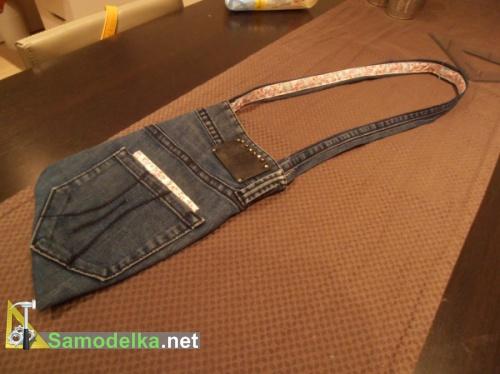 делаем сумку из джинсов