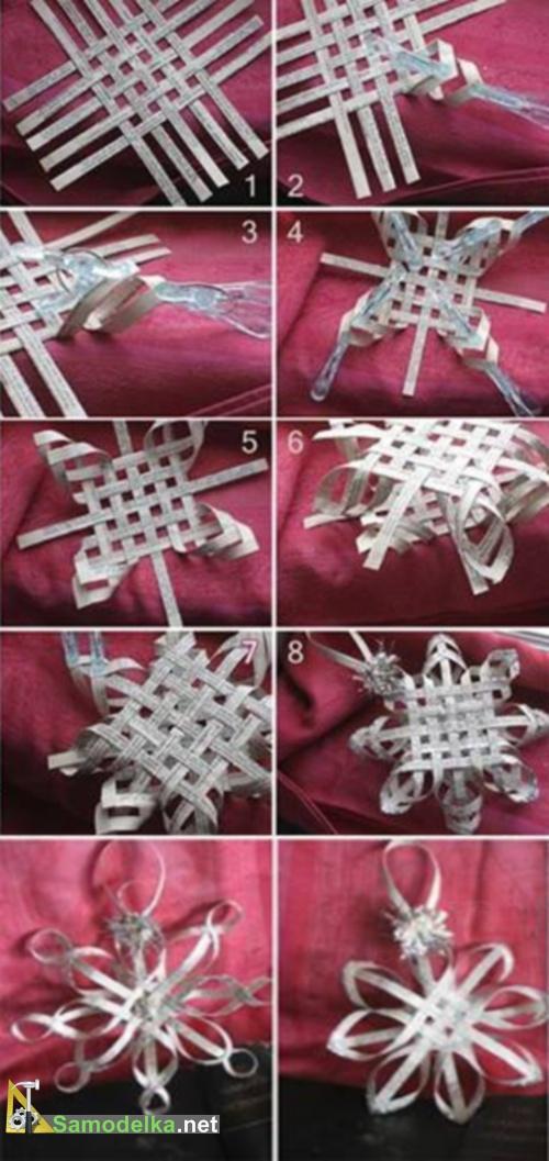 объемные снежинки из бумаги схемы