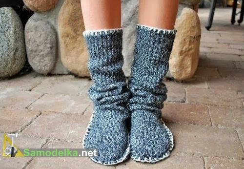 как сшить носки своими руками из свитера