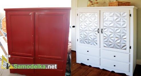 как преобразить старый шкаф