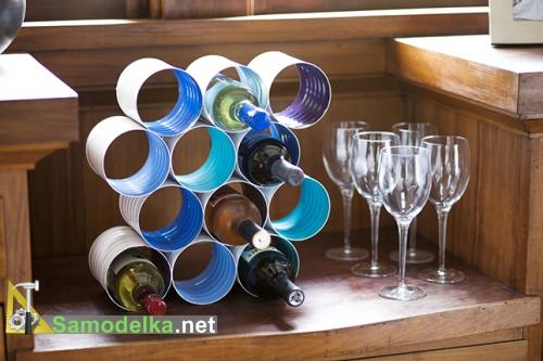 подставка для хранения бутылок вина