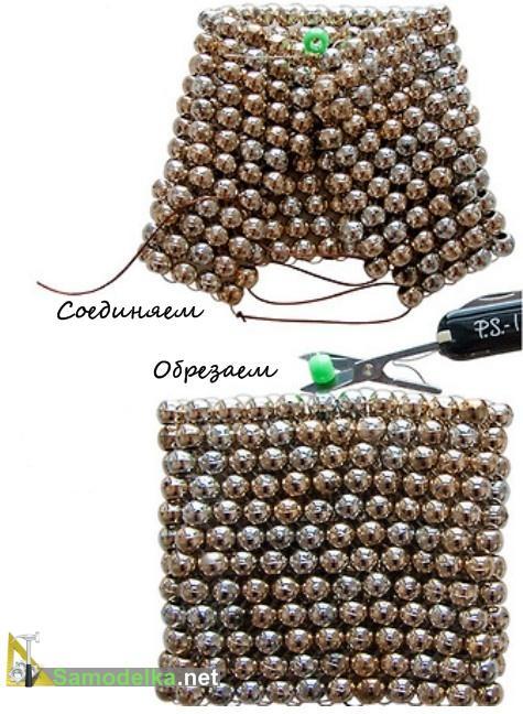 как сплести браслет из бисера схемы завершаем плетение