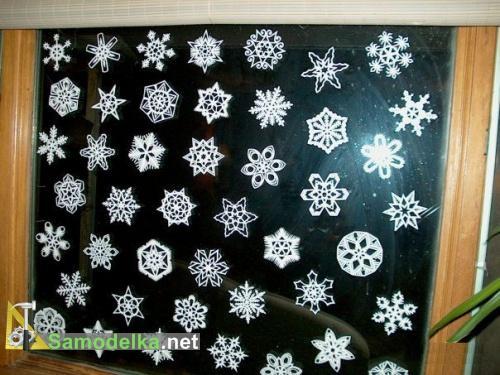 Как вырезать снежинки из бумаги часть 2