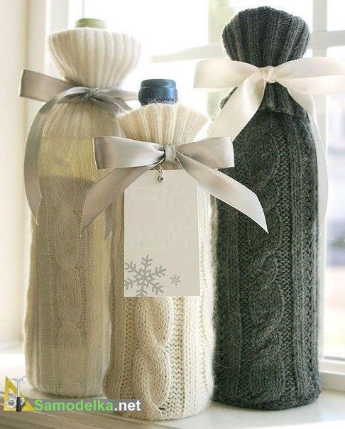 одежда для бутылок - простые свитера из рукавов