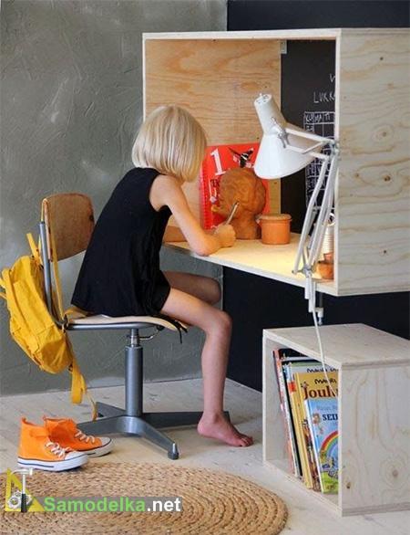 рабочий кабинет из фанеры для подростков