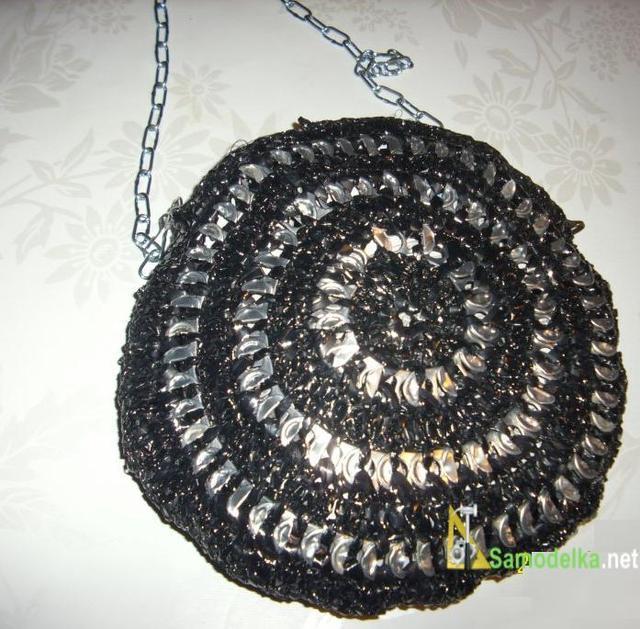 самодельная сумочка вариант круглой со звездой по центр