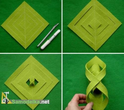 изготовление украшения из фетра