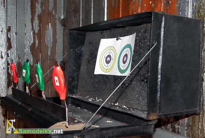 Падающая мишень для стрельбы из пневматической винтовки