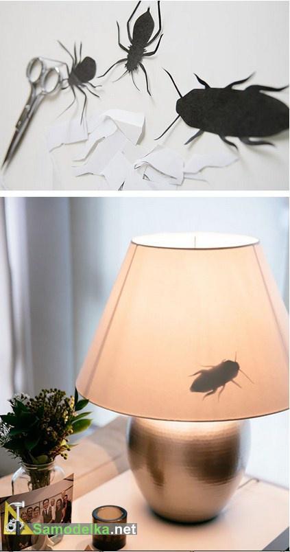 розыгрыш лампа с насекомыми