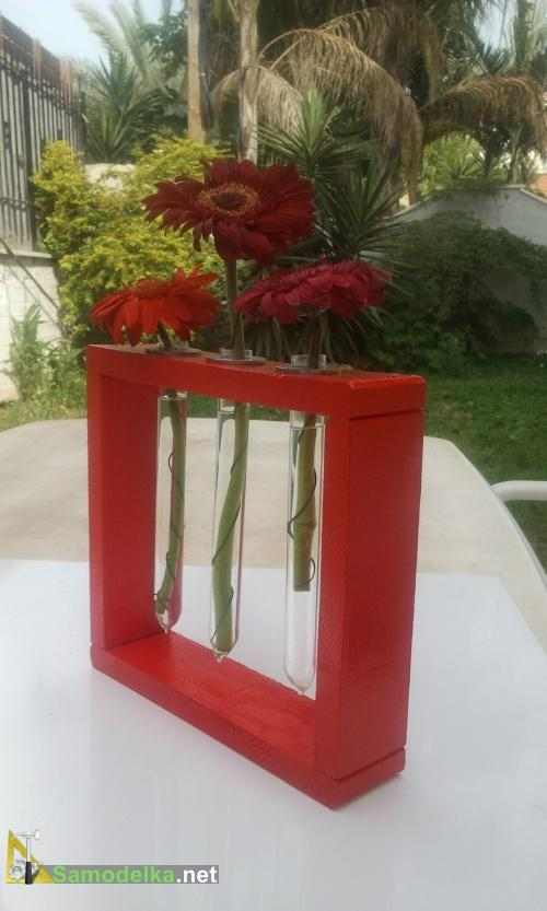 вазы из пробирок