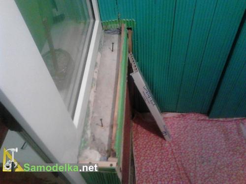Как прикрепить пластиковый подоконник вместо бетонного