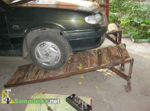самодельная переносная эстакада для авто