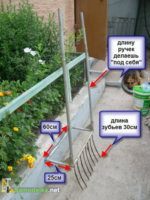 размеры и чертеж лопаты для ленивых