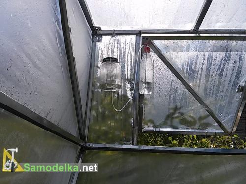 система открывания форточки в теплице