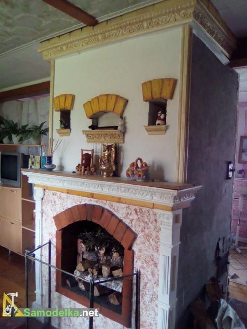 Ремонт камина - молдинки и акрил