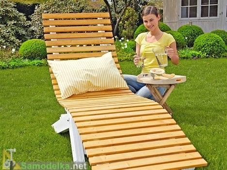 Как сделать лежак для дачи из дерева