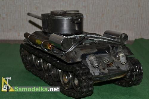 Модель танка из металла своими руками 3
