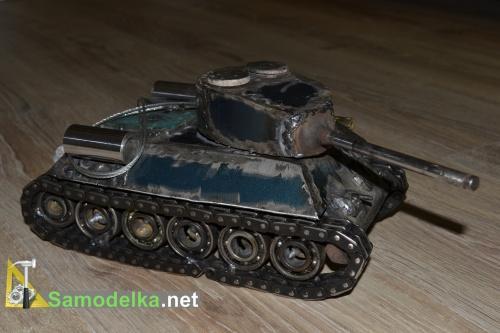 Модель танка из металла своими руками 5