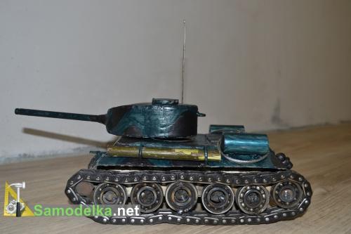 Модель танка из металла своими руками 8